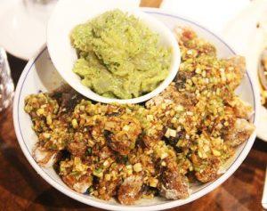 沙爹油淋皮蛋 – 油淋ピータンのサテ風味(香港料理)