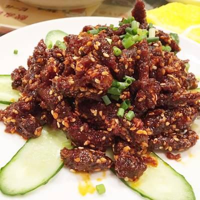 麻辣冷吃牛肉 -  シビれ辛牛肉の冷菜