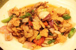 锅巴回锅肉(おこげの回鍋肉)