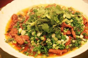 葱香牛柳(ネギと牛肉の炒め物)