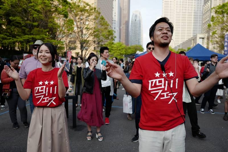 四川フェス主催の中川正道&知香で企業回りを担当